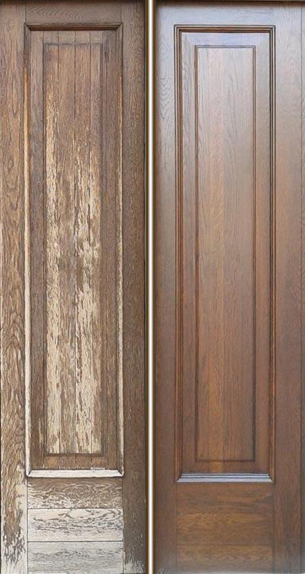 restauro portone in legno prima durante dopo